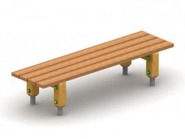 Lavička bez operadla drevená