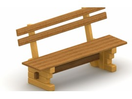 Lavička drevená voľne stojaca
