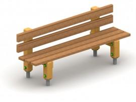 Lavička s operadlom drevená